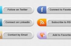 Grey Social Media Buttons