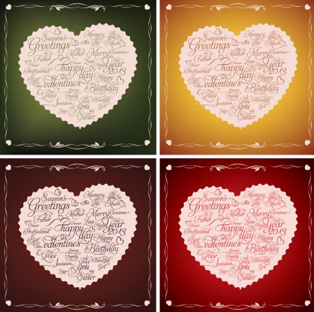 Happy Valentine's Day Heart-Shaped Labels 01