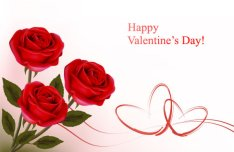 Happy Valentine's Day Greeting Card Vector Material 03