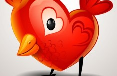Heart-shaped Chick Vector