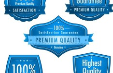 High Quality Blue Badge Vector Labels 01