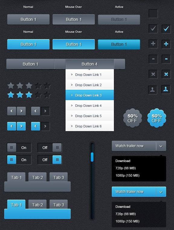 Modern Dark Web UI Kit