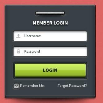 Modern Login Form UI Element