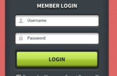 Modern Login Form UI Element