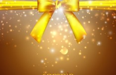 Noble Golden Vector Cover with Bow