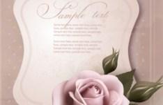 Pink Rose Valentine's Day Card 01