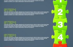 Puzzles Number Web UI Vector 04
