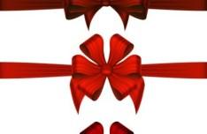 Red Rosette Vector Design Material 02