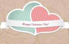 Retro Valentine's Day Vector Lables 01