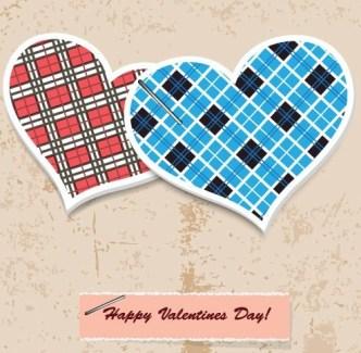 Retro Valentine's Day Vector Lables 04