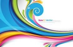 Retro Vector Color Swirls 06