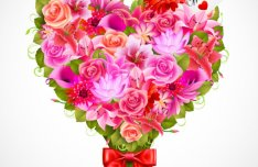 Romantic Flowers Greeting Cards Background