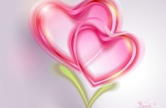 Romantic Valentine's Day Background with Pink Hearts