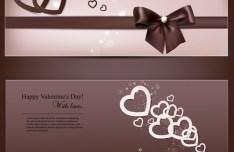 Romantic Valentine's Day Vector Banner 01