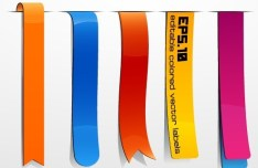 Set of Colored Vector Ribbons