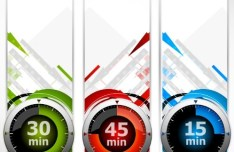 Set of Stylish Vector Banner with Countdown Timers