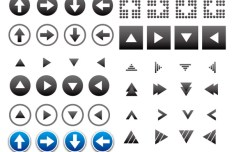 Set of Useful Arrow Symbols Vector