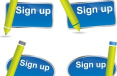 Sign Up Button Vector 01