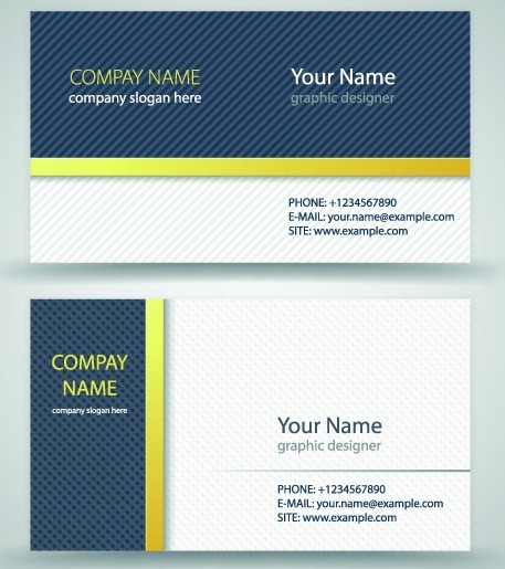 Simple Business Card Vector 01