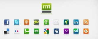 Simple Square Social Media Icons