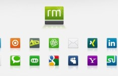 Simple Square Social Media Icons