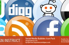 Social Media Bubble Icons