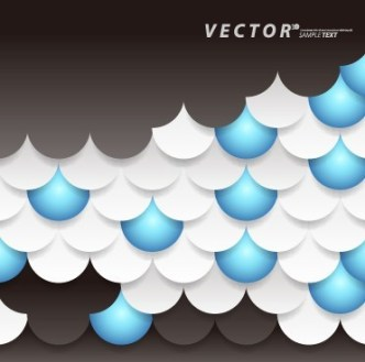 Stylish Scaly Vector Background 01