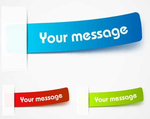 Sweet Message Lables Vector