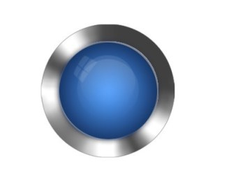 Three-dimensional Blue Crystal Button PSD