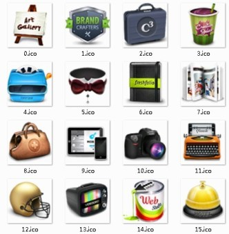 Three-dimensional Daily Necessities Icons