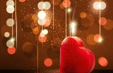 Valentine's Day Greeting Card Background Vector Material 04