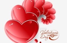 Valentine's Day Paper-cut Design Vector 02
