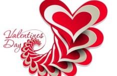Valentine's Day Paper-cut Design Vector 03