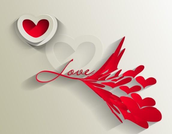 Valentine's Day Paper-cut Design Vector 04