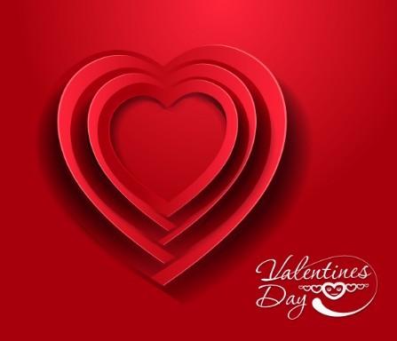 Valentine's Day Paper-cut Design Vector 05