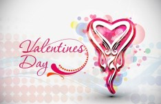 Valentine's Day Vector Poster Background 01