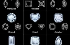 Various Shapes of Shining Diamonds Vector