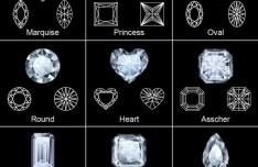 Various Shapes of Shining Diamonds Vector