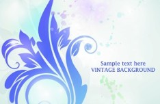Vector Background with Vintage Patterns 04