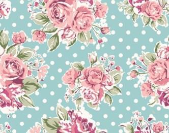 Vintage Watercolor Flowers Vector 01
