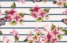 Vintage Watercolor Flowers Vector 02