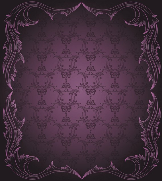 Violet Classical Pattern Background 3