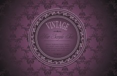Violet Classical Pattern Background 4