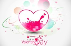 Warm Valentine's Day Greeting Card Vector 01