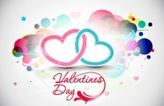 Warm Valentine's Day Greeting Card Vector 03