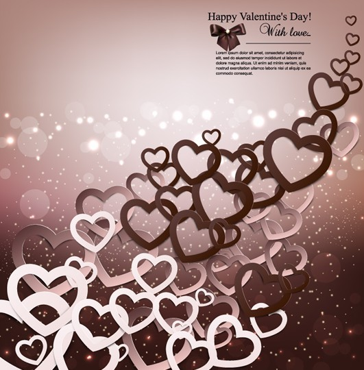 Warm Valentine's Day Greeting Card Vector 06