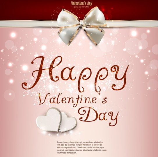 Warm Valentine's Day Greeting Card Vector 09