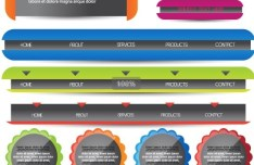 Website Navigation Bar Vector Materials