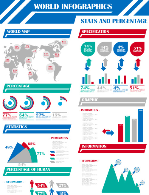 World Map Vector Infographic