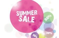 Fresh Summer Sale Bubbles Background